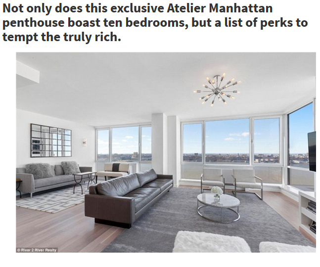 View Larger Image Daniel Neiditch. ; . A Manhattan Penthouse Has Become  New York Cityu0027s Most Expensive Apartment Ever.